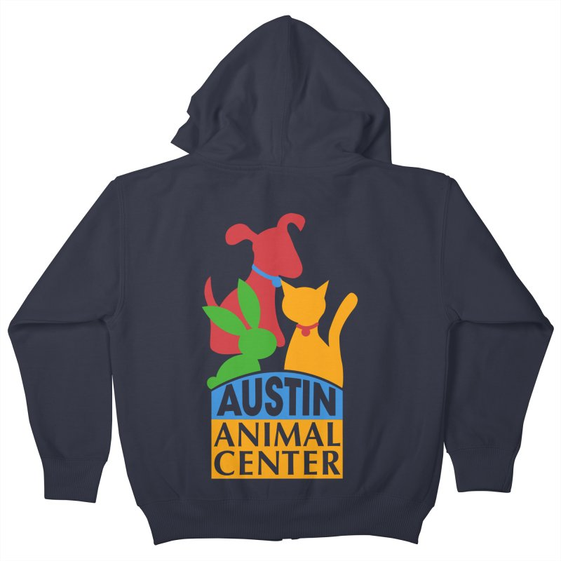 AAC Logo: Color Kids Zip-Up Hoody by Austin Animal Center Shop