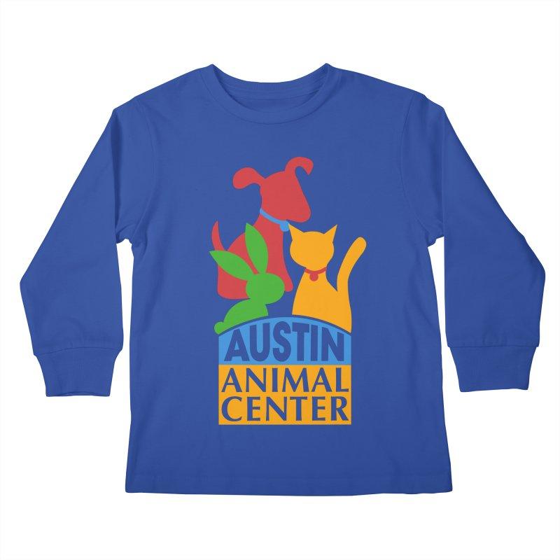 AAC Logo: Color Kids Longsleeve T-Shirt by Austin Animal Center Shop