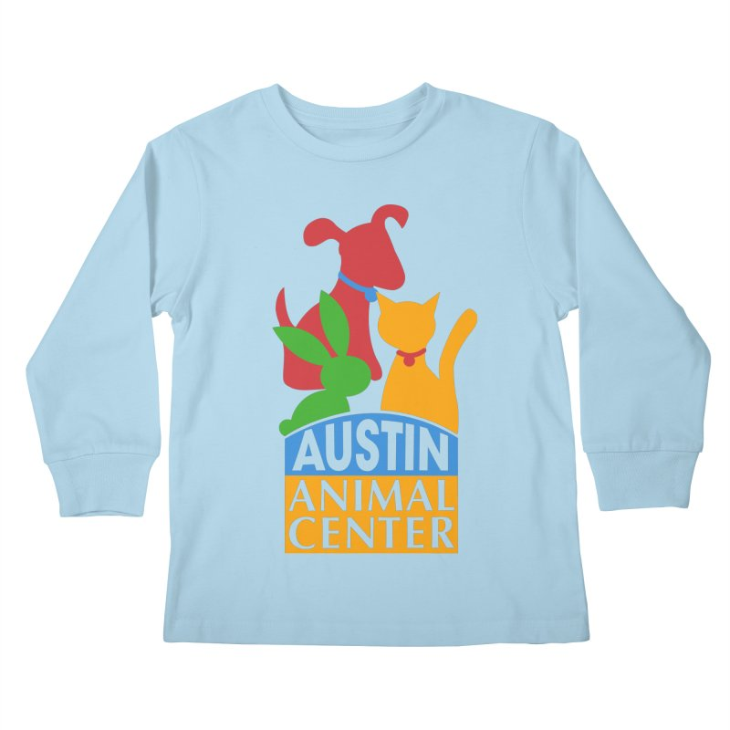 AAC Logo: Color Kids Longsleeve T-Shirt by Austin Animal Center Shop