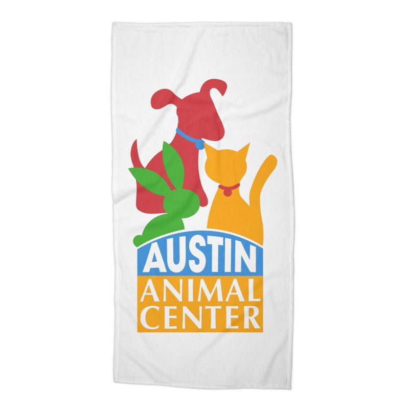 AAC Logo: Color Accessories Beach Towel by Austin Animal Center Shop
