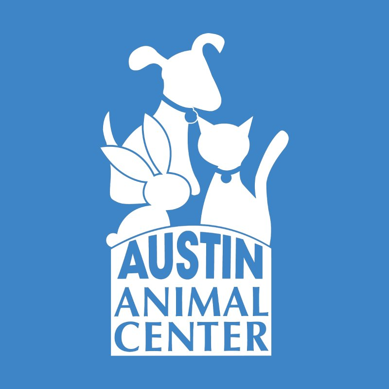AAC Logo: White Men's Pullover Hoody by Austin Animal Center Shop