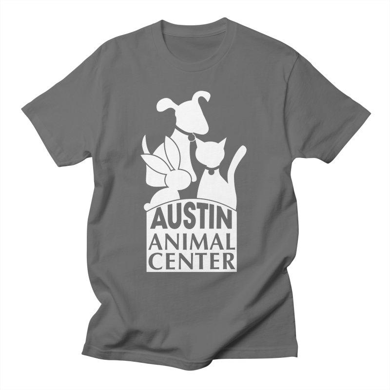 AAC Logo: White Men's T-Shirt by Austin Animal Center Shop