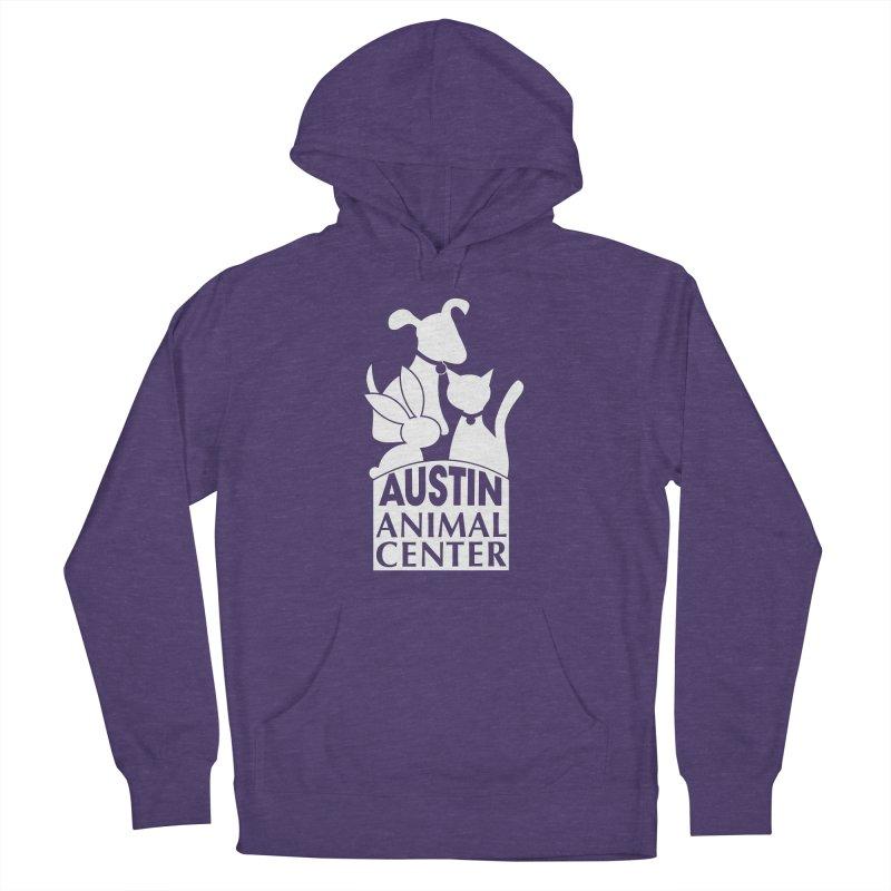 AAC Logo: White Men's Pullover Hoody by Austin Animal Center Shop