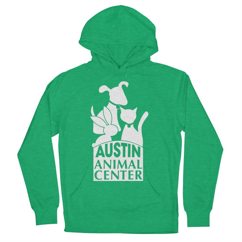 AAC Logo: White Women's Pullover Hoody by Austin Animal Center Shop