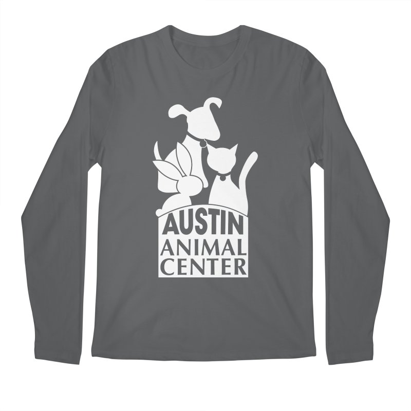 AAC Logo: White Men's Longsleeve T-Shirt by Austin Animal Center Shop