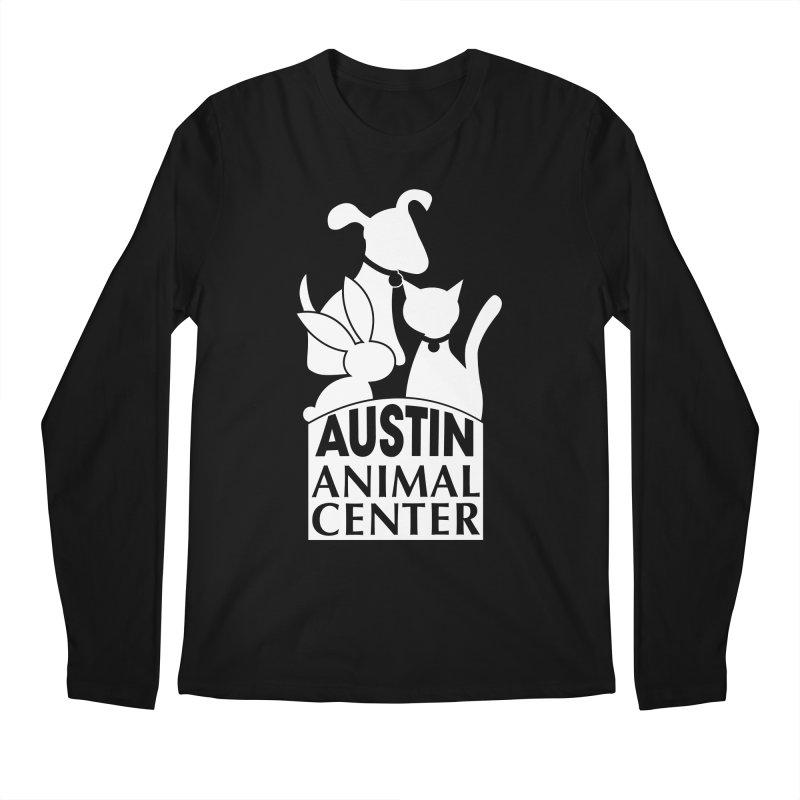 AAC Logo: White Men's Longsleeve T-Shirt by Austin Animal Center Shop