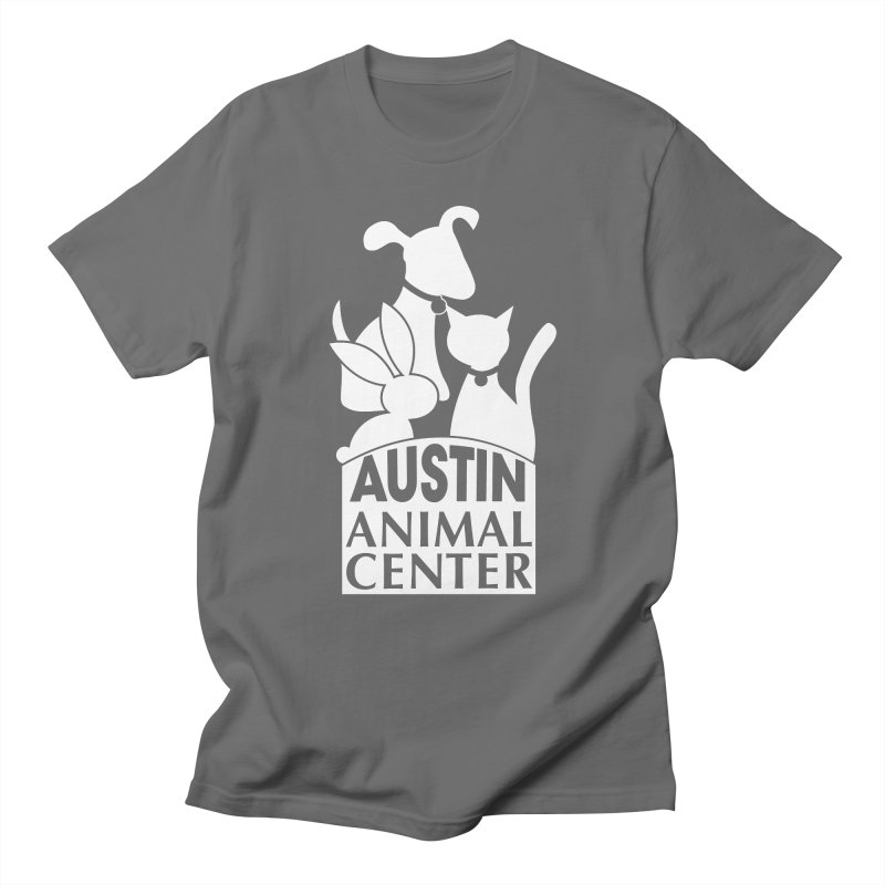 AAC Logo: White Men's T-Shirt by Austin Animal Center Shop
