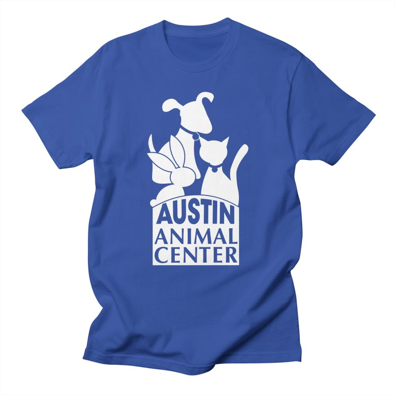 AAC Logo: White Women's Unisex T-Shirt by Austin Animal Center Shop
