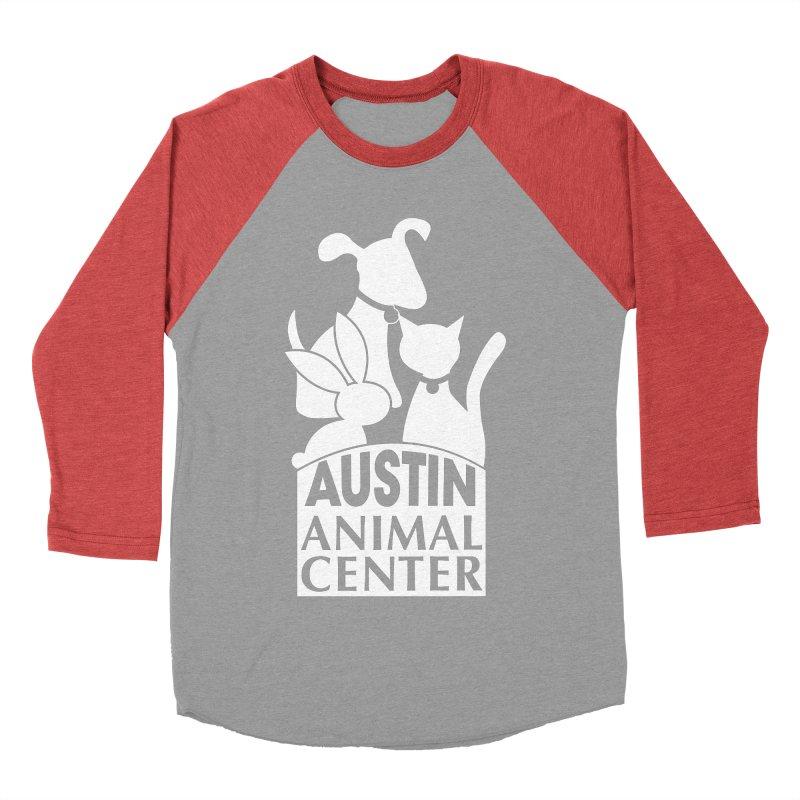 AAC Logo: White Women's Baseball Triblend T-Shirt by Austin Animal Center Shop