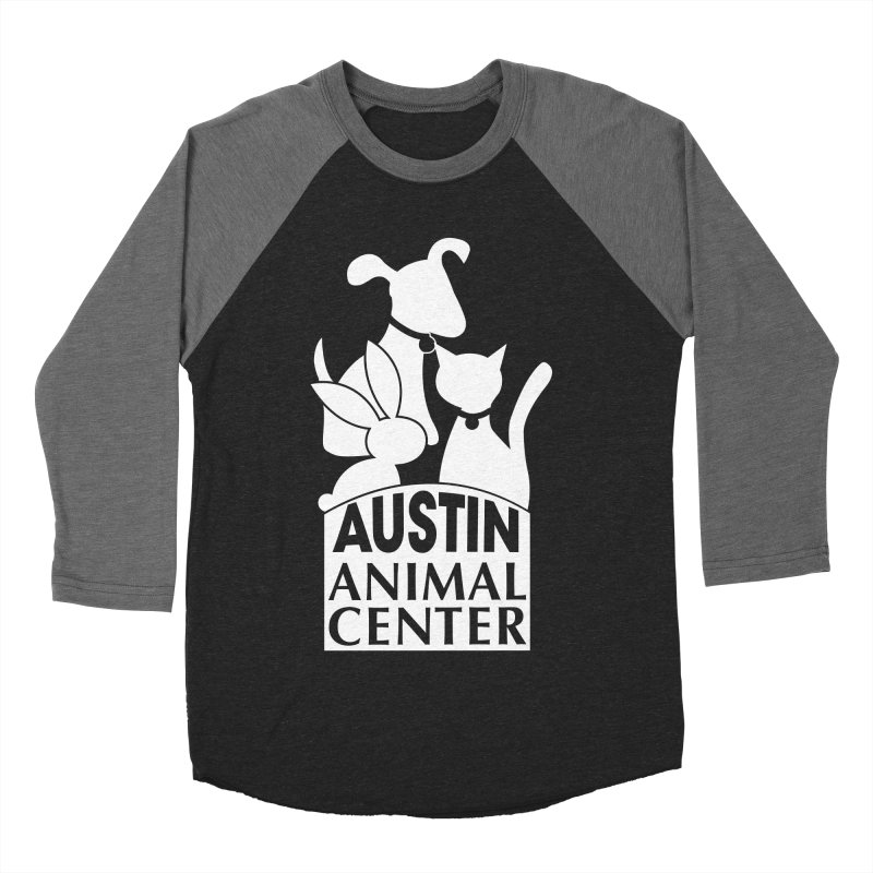 AAC Logo: White Women's Baseball Triblend T-Shirt by Austin Animal Center Shop