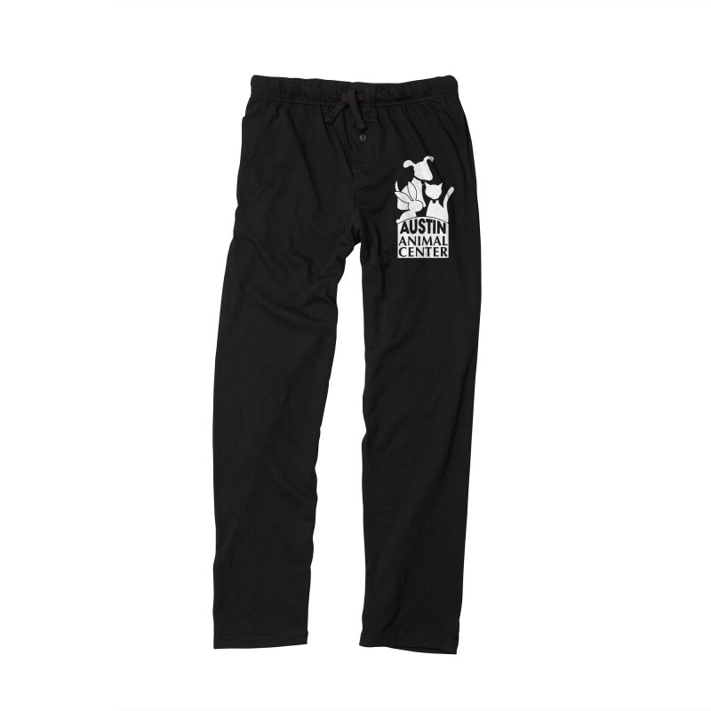 AAC Logo: White Men's Lounge Pants by Austin Animal Center Shop