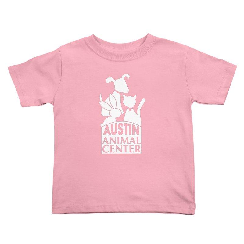 AAC Logo: White Kids Toddler T-Shirt by Austin Animal Center Shop