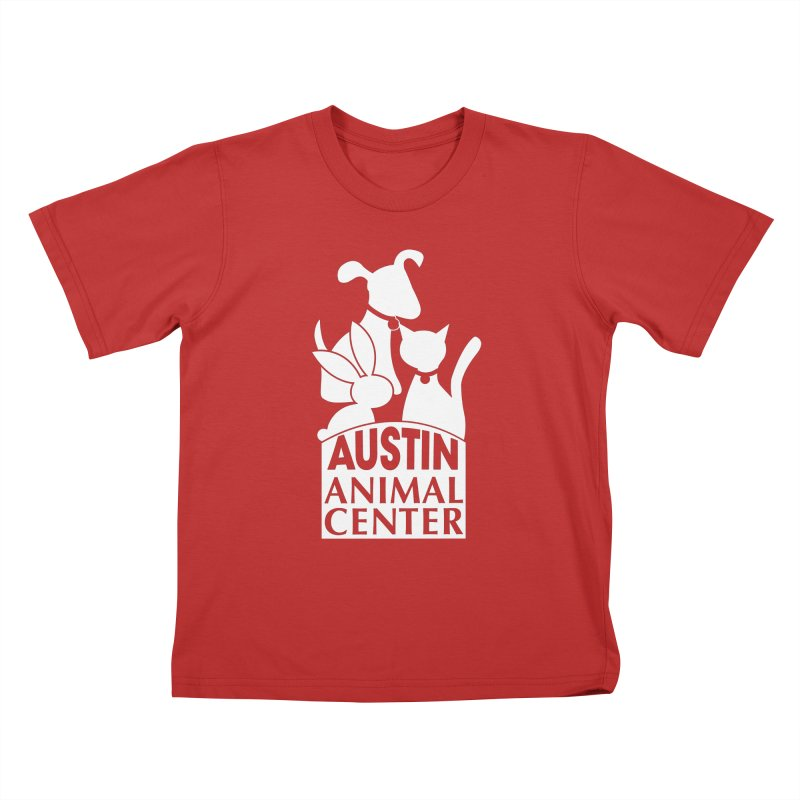 AAC Logo: White Kids T-Shirt by Austin Animal Center Shop