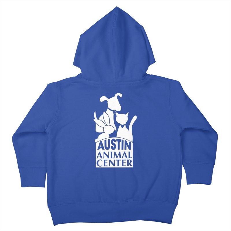 AAC Logo: White Kids Toddler Zip-Up Hoody by Austin Animal Center Shop