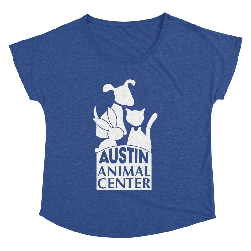 AAC Logo: White Women's Dolman by Austin Animal Center Shop