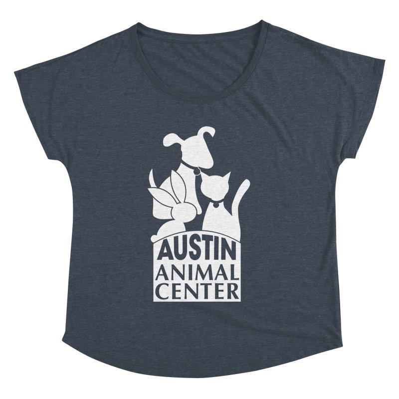 AAC Logo: White Women's Dolman by Austin Animal Center Shop