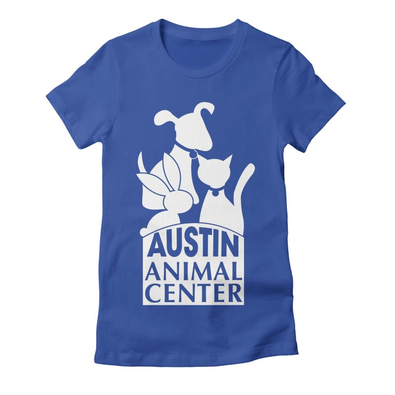 AAC Logo: White Women's Fitted T-Shirt by Austin Animal Center Shop