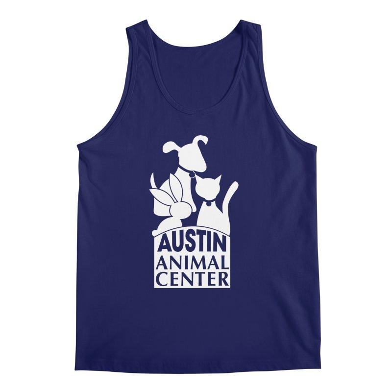 AAC Logo: White Men's Tank by Austin Animal Center Shop