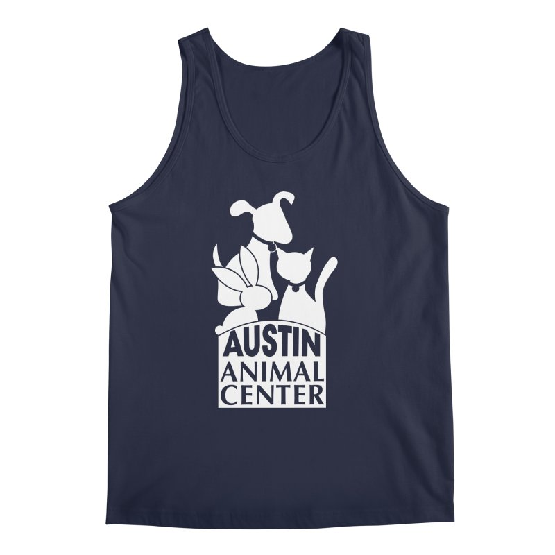AAC Logo: White Men's Tank by Austin Animal Center Shop