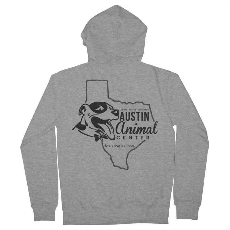 Every dog is unique Men's Zip-Up Hoody by Austin Animal Center Shop