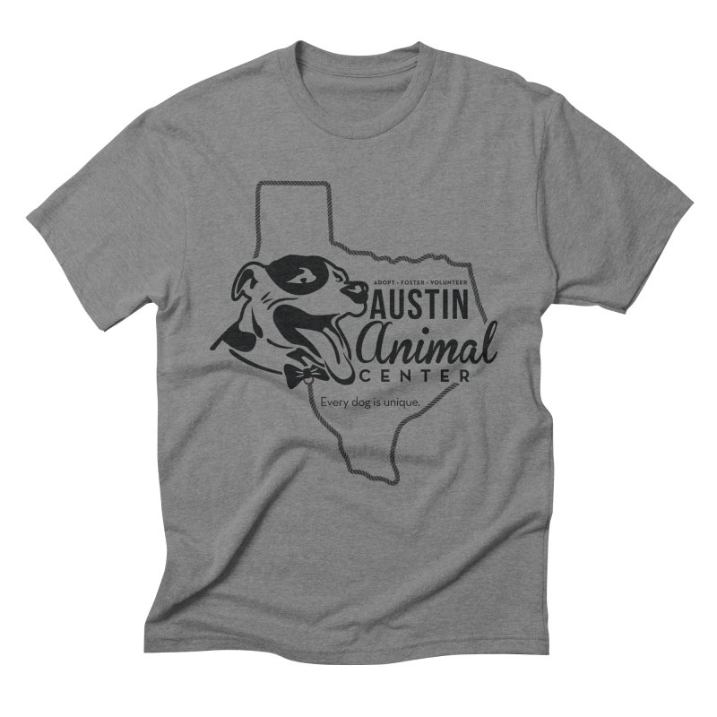 Every dog is unique Men's Triblend T-shirt by Austin Animal Center Shop