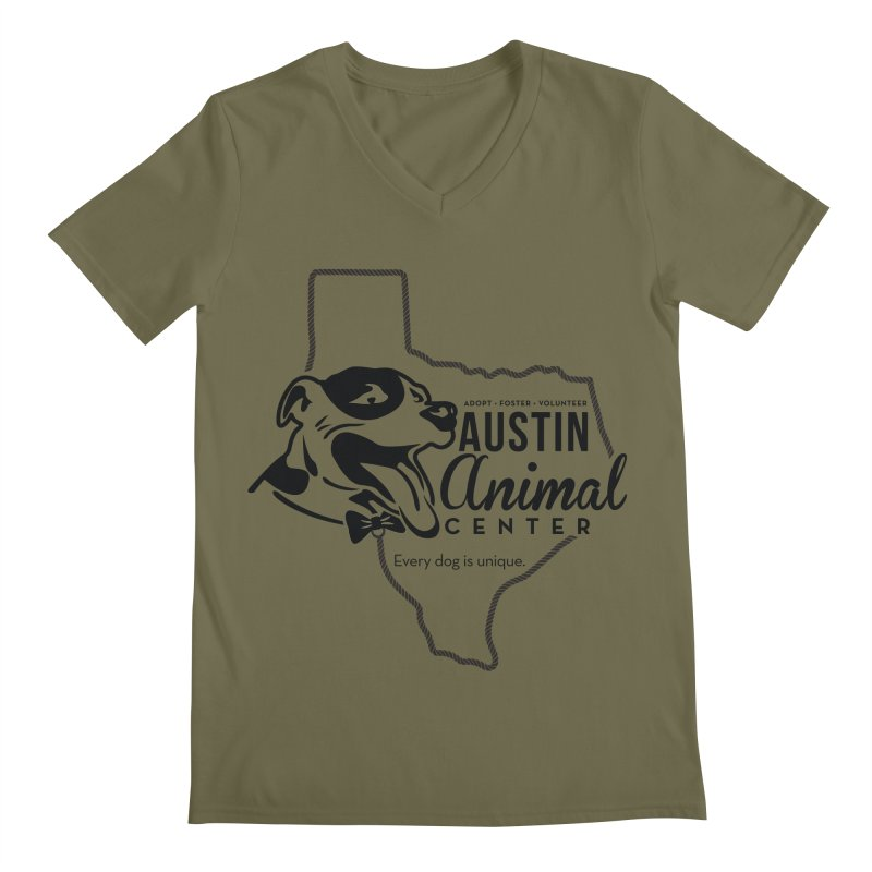 Every dog is unique Men's V-Neck by Austin Animal Center Shop
