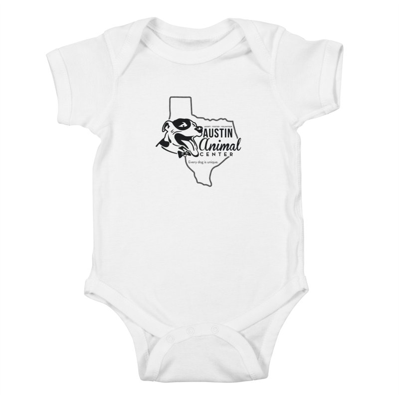 Every dog is unique Kids Baby Bodysuit by Austin Animal Center Shop