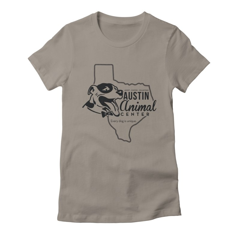 Every dog is unique Women's Fitted T-Shirt by Austin Animal Center Shop