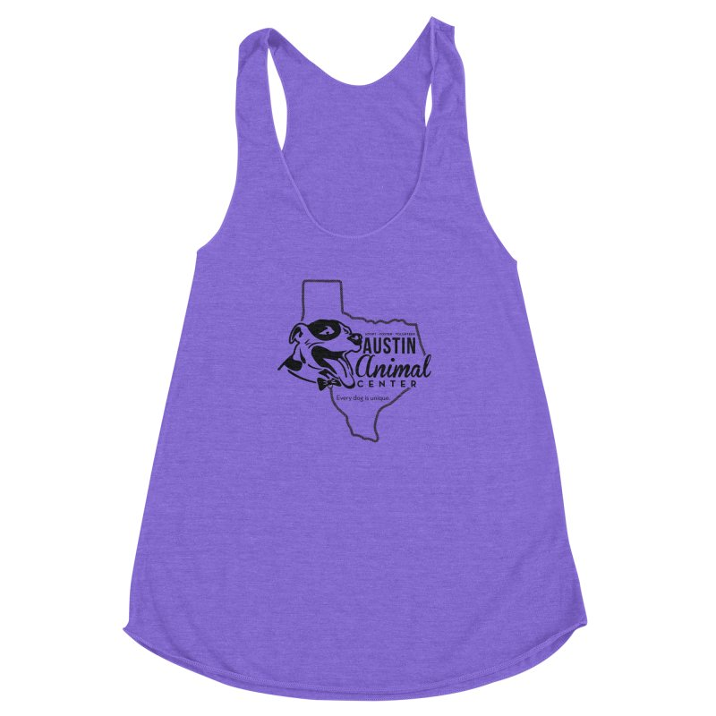 Every dog is unique Women's Racerback Triblend Tank by Austin Animal Center Shop
