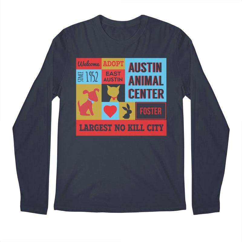 Austin Mural 4 Color Men's Longsleeve T-Shirt by Austin Animal Center Shop