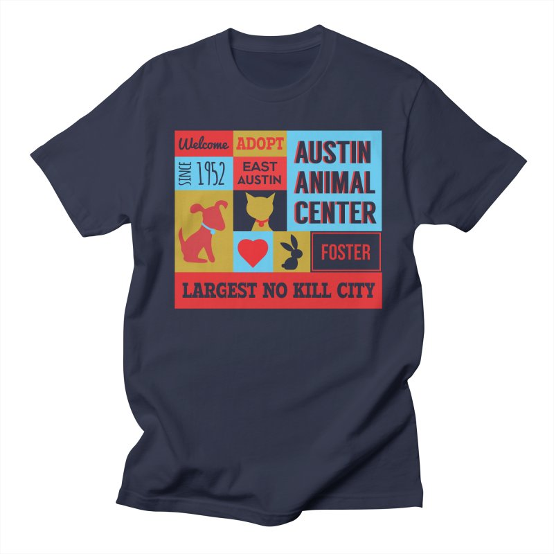 Austin Mural 4 Color Men's T-Shirt by Austin Animal Center Shop