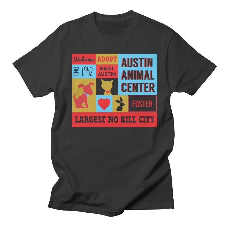 Austin Mural 4 Color Men's T-Shirt by Austin Animal Center Shop