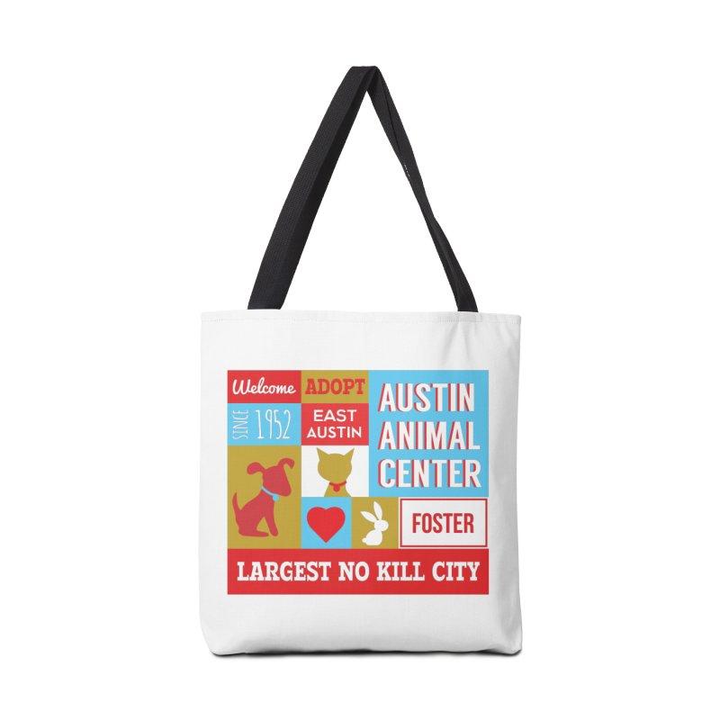 Austin Mural 4 Color Accessories Bag by Austin Animal Center Shop