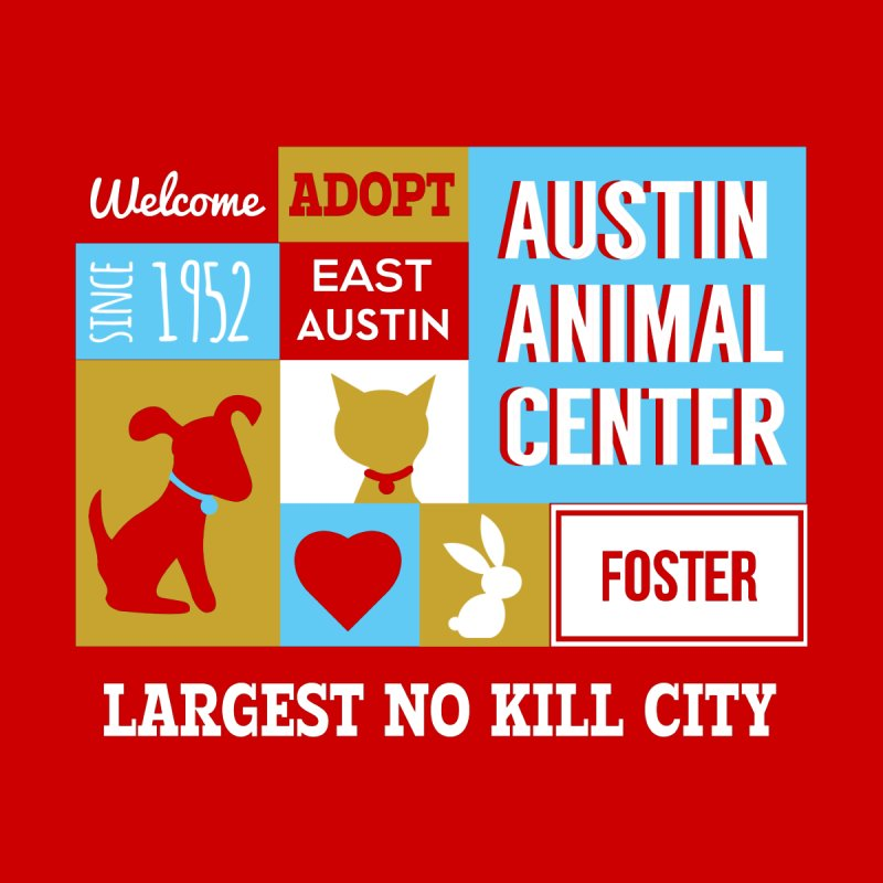 Austin Mural 3 Color Women's Fitted T-Shirt by Austin Animal Center Shop