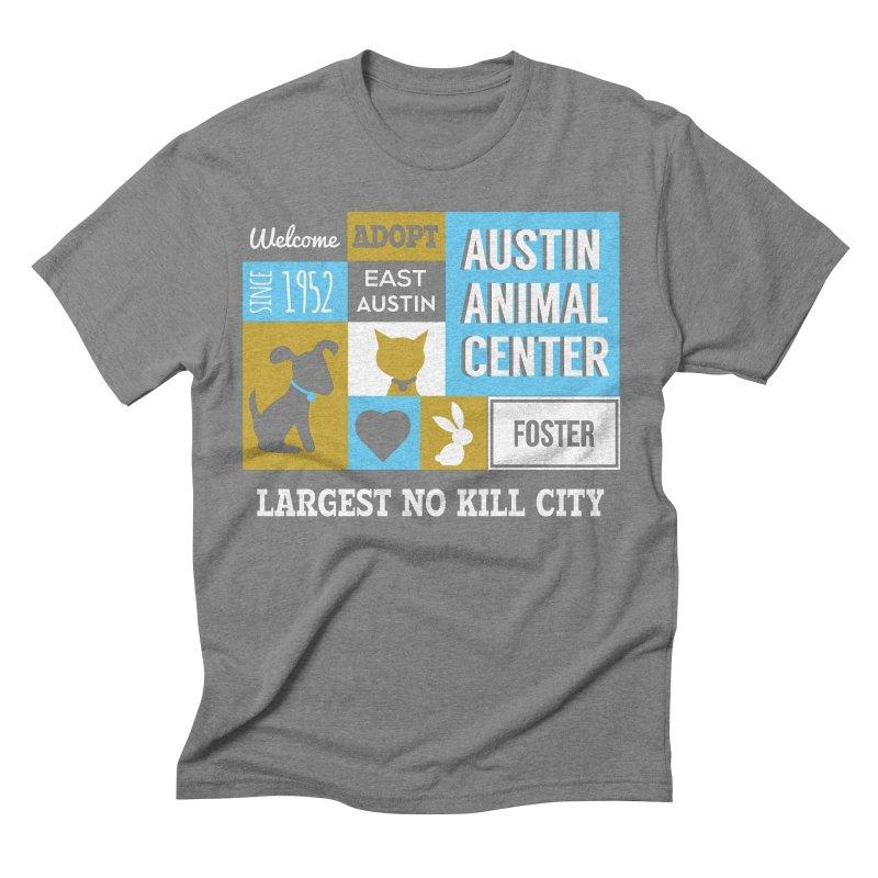 Austin Mural 3 Color Men's Triblend T-shirt by Austin Animal Center Shop