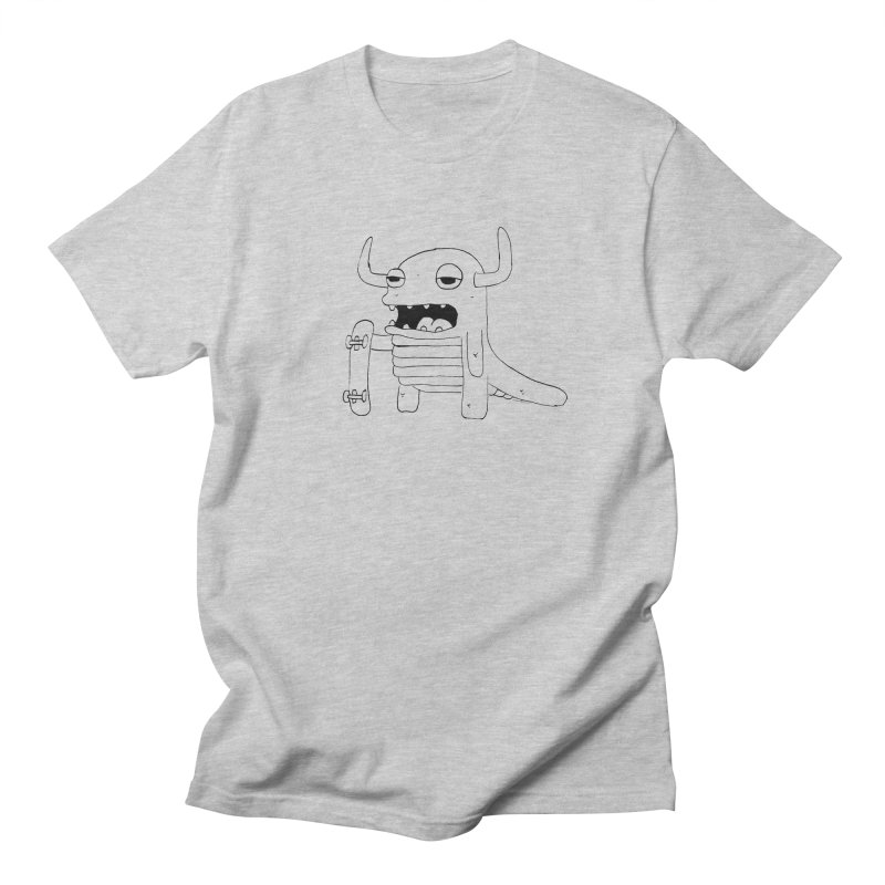 skate monster in Men's T-shirt Heather Grey by austinbeale's Artist Shop
