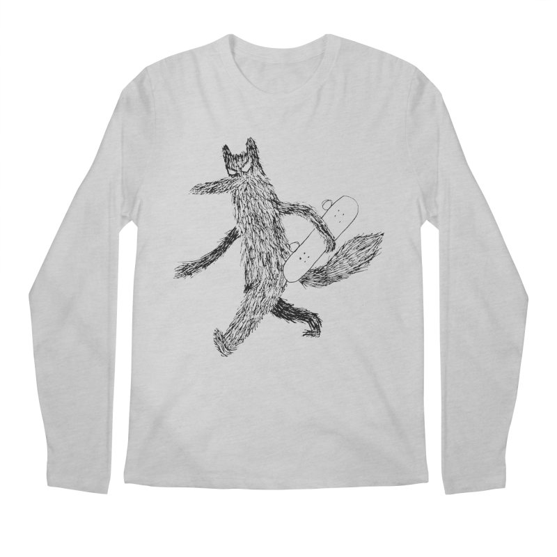 skate wolf Men's Regular Longsleeve T-Shirt by austinbeale's Artist Shop