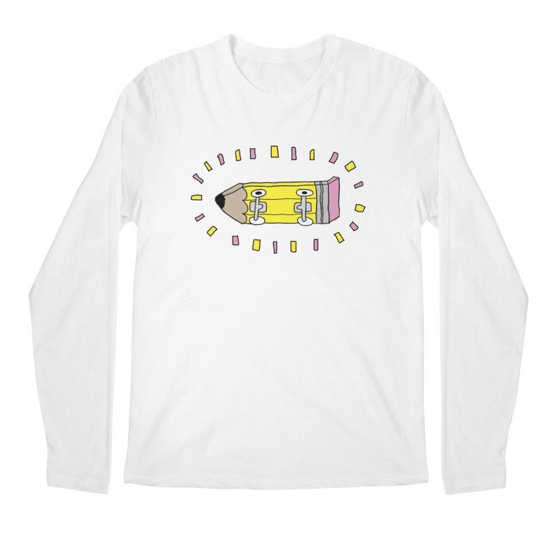 Pencil Deck Men's Longsleeve T-Shirt by austinbeale's Artist Shop