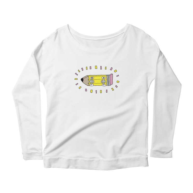 Pencil Deck Women's Longsleeve Scoopneck  by austinbeale's Artist Shop
