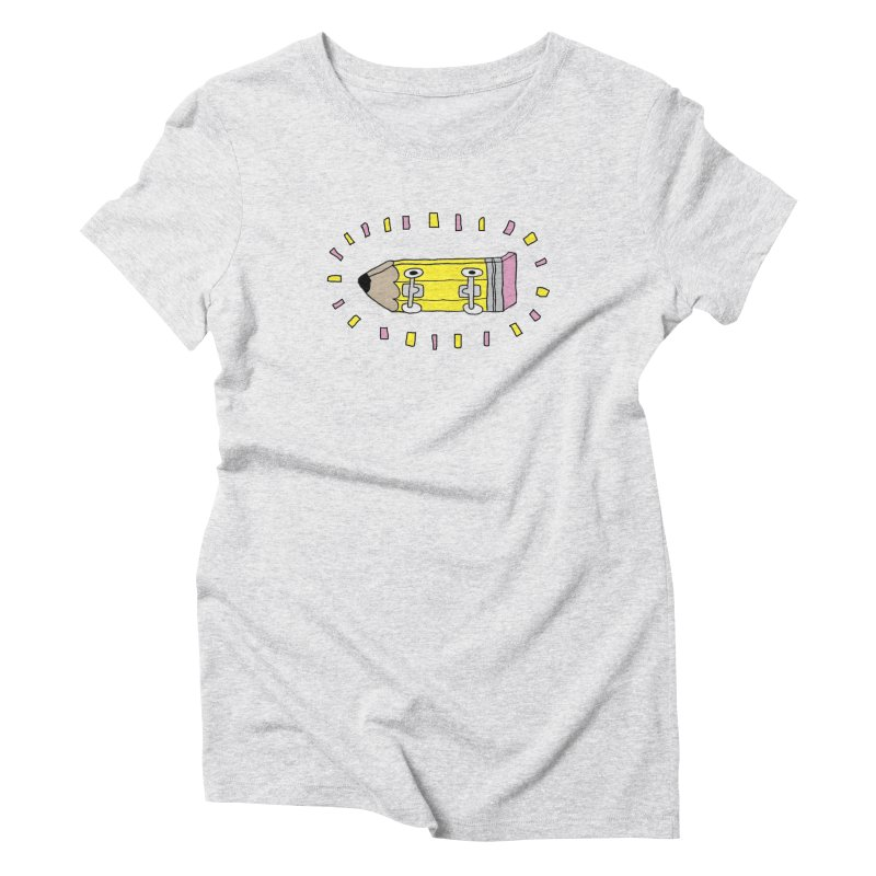 Pencil Deck Women's Triblend T-Shirt by austinbeale's Artist Shop
