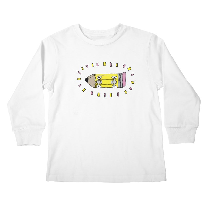 Pencil Deck Kids Longsleeve T-Shirt by austinbeale's Artist Shop