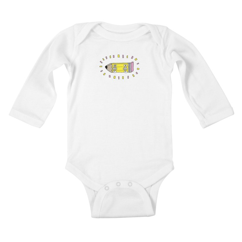 Pencil Deck Kids Baby Longsleeve Bodysuit by austinbeale's Artist Shop