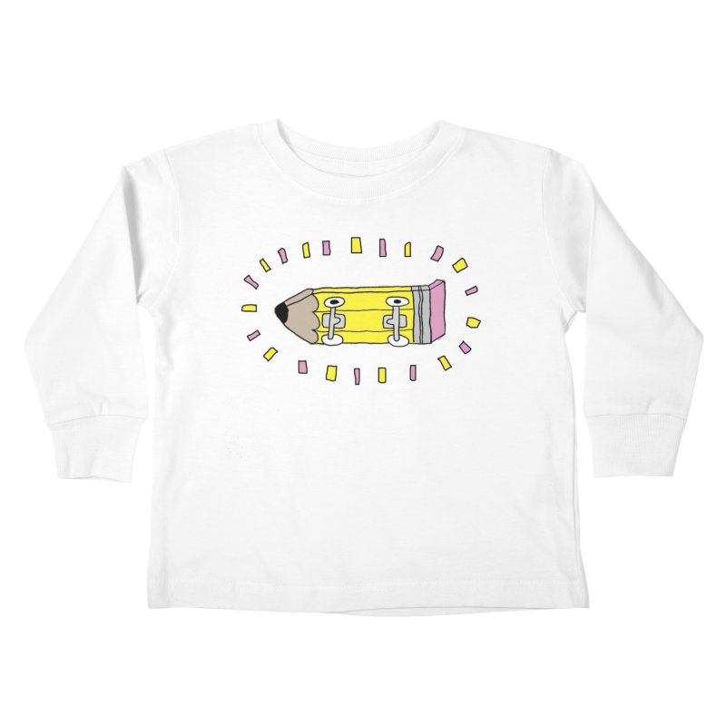 Pencil Deck Kids Toddler Longsleeve T-Shirt by austinbeale's Artist Shop