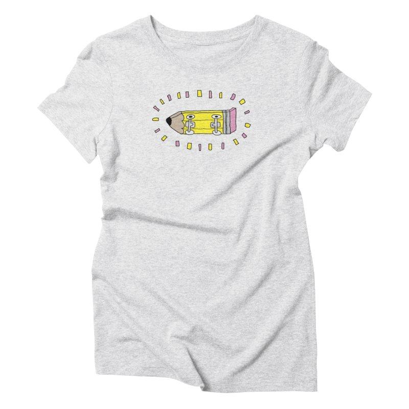 Pencil Deck Women's Triblend T-Shirt by austinbeale's Artist Shop