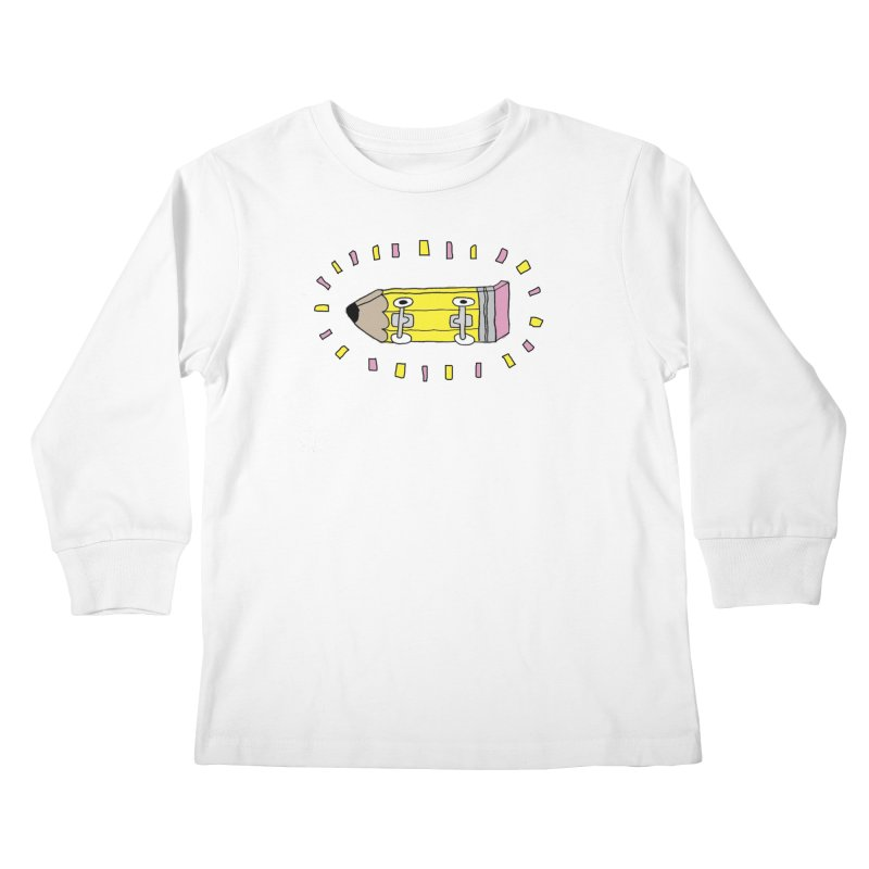 Pencil Deck Kids Longsleeve T-Shirt by austinbeale's Artist Shop
