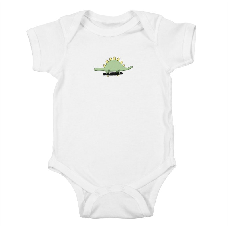color dino skate Kids Baby Bodysuit by austinbeale's Artist Shop
