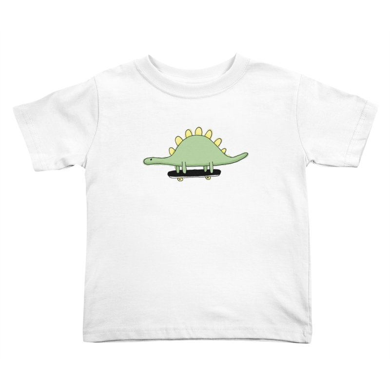 color dino skate Kids Toddler T-Shirt by austinbeale's Artist Shop