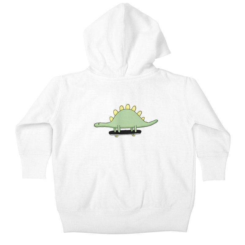 color dino skate Kids Baby Zip-Up Hoody by austinbeale's Artist Shop