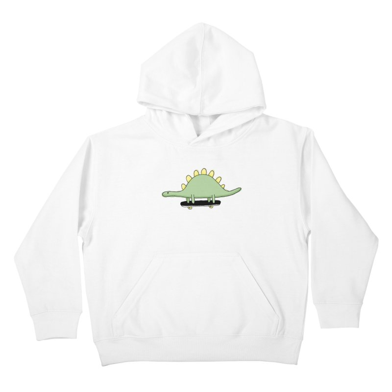 color dino skate Kids Pullover Hoody by austinbeale's Artist Shop