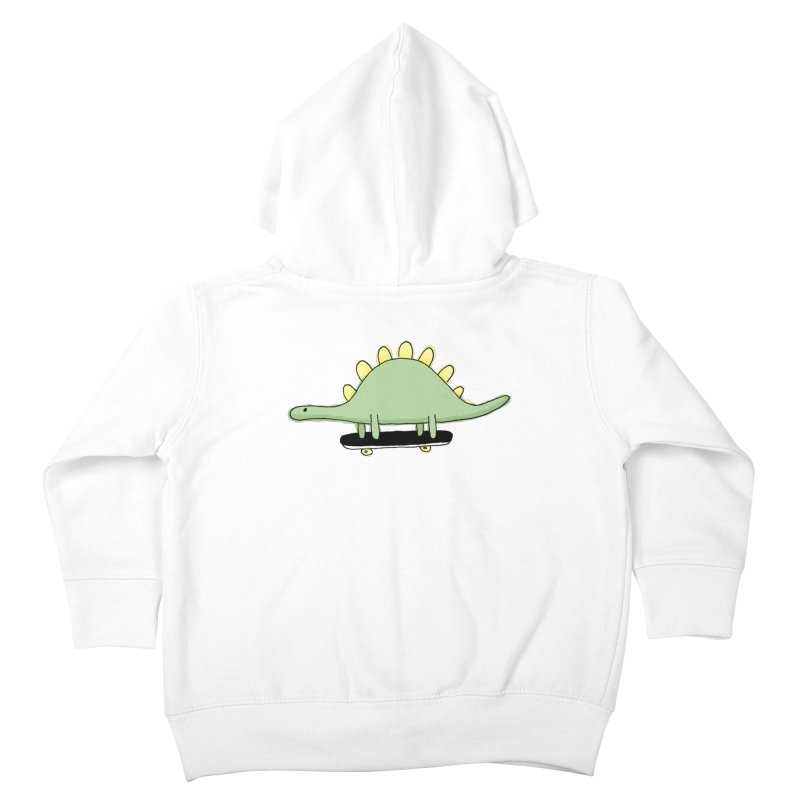 color dino skate Kids Toddler Zip-Up Hoody by austinbeale's Artist Shop